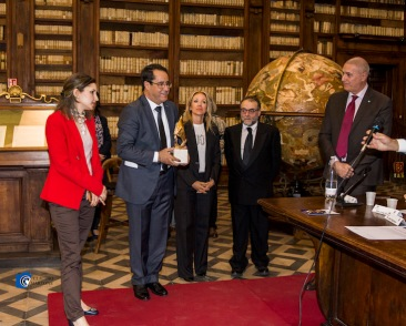 Imed Selatina (Segratario d'Ambasciata della Repubblica d''Algeria) Toufik Hamoum, Stefania Sofra, Alessandro Marrone, Enea Franza